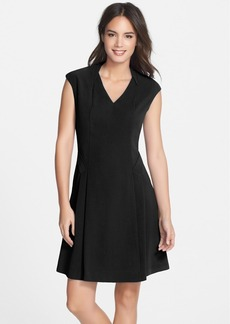 Marc New York by Andrew Marc V-Neck Fit & Flare Dress