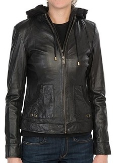 Marc New York by Andrew Marc Vera Hooded Jacket - Vintage Washed, Leather (For Women)