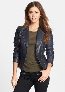 Marc New York Channel Quilt Leather Moto Jacket