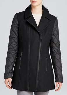 Marc New York Elena Asymmetric Quilted Moto Coat