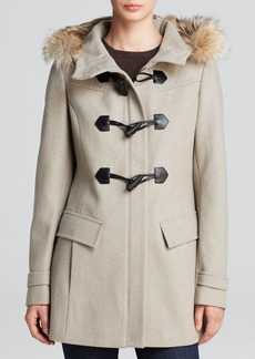 Marc New York Fur-Trimmed Erin Toggle Coat