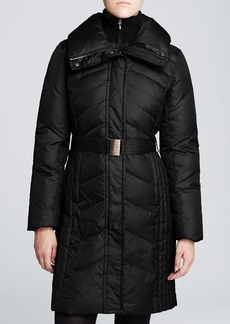 Marc New York Coat - Misty Chevron Quilted