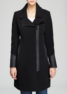 Marc New York Patrice Mixed-Media Wool Coat