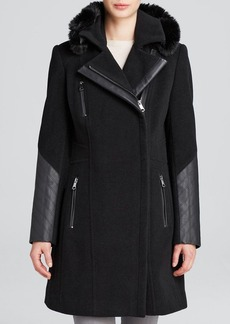 Marc New York Paula Mixed-Media Trench Coat
