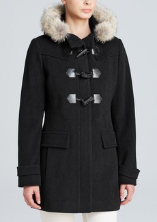 Marc New York Piper Fur-Trimmed Piper Toggle Coat