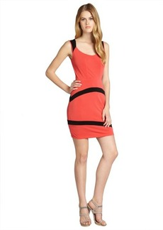 Marc New York coral and black colorblocked sleeveless dress