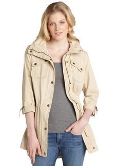 Marc New York ecru cotton 'Blair' hooded anorak jacket