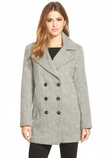 Marc New York 'Effie' Double Breasted Wool Blend Peacoat