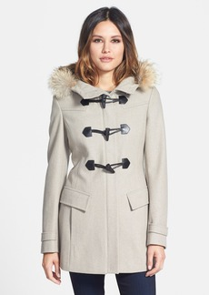 Marc New York 'Erin' Genuine Coyote Trim Duffle Coat (Online Only)