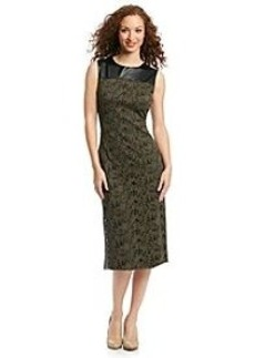 Marc New York Faux Leather And Lace Sheath Dress