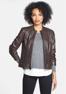 Marc New York Front Zip Leather Jacket (Regular & Petite) (Online Only)
