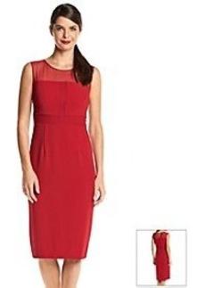 Marc New York Illusion Neck Midi Dress