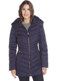 Marc New York ink blue chevron quilted 'Kirby' down jacket