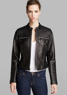 Marc New York Jacket - Grace Collar Leather Moto