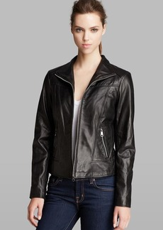 Marc New York Jacket - Gwyneth Zip Front Leather Moto