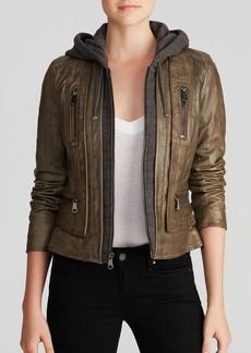 Marc New York Jacket - Mila Hooded Leather