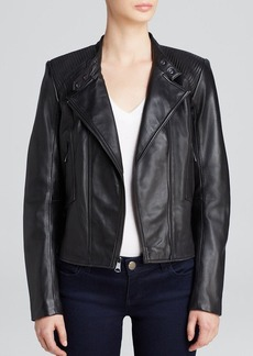 Marc New York Regan Structured Leather Jacket