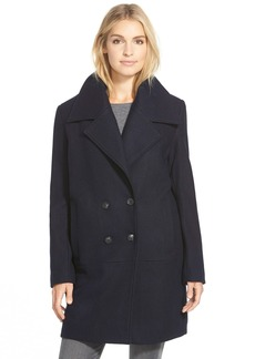 Marc New York 'Natalie' Twill Wool Blend Boyfriend Coat