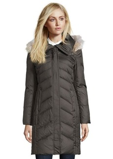 Marc New York olive quilted 'Mercer' fur trim hooded 3/4-down coat