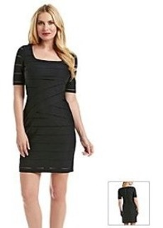 Marc New York Perforated Knit Dress