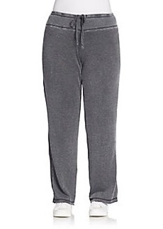 MARC NEW YORK PERFORMANCE, Sizes 14-24 Mineral Washed Fleece Sweatpants