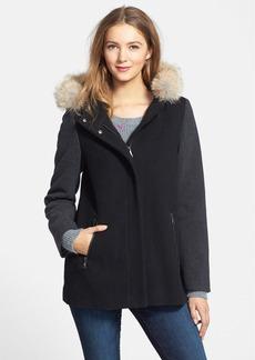 Marc New York 'Portia' Genuine Coyote Fur Trim Wool Blend Jacket