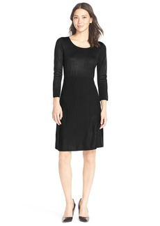 Marc New York Ribbed Fit & Flare Sweater Dress