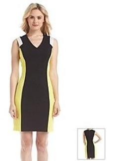 Marc New York V Neck Colorblock Sheath Dress