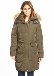Marc New York 'Warby' Faux Fur Trim Long Down & Feather Fill Parka