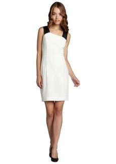Marc New York white and black stretch crepe sleevless dress