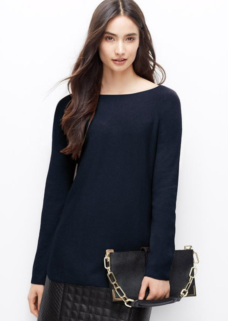 Ann taylor boatneck sweater tunic sweaters shop it to me for Robes de noce ann taylor