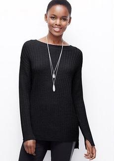 Cable Hi-Lo Hem Sweater