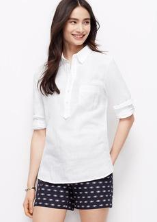 Cotton Gauze Popover Shirt