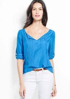 Cotton Silk Peasant Blouse
