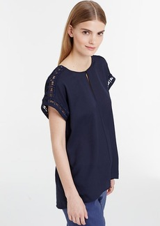 Crepe Lace Inset Top