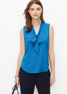 Crepe Tie Neck Shell