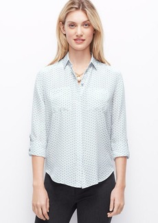 Dotted Silk Camp Shirt