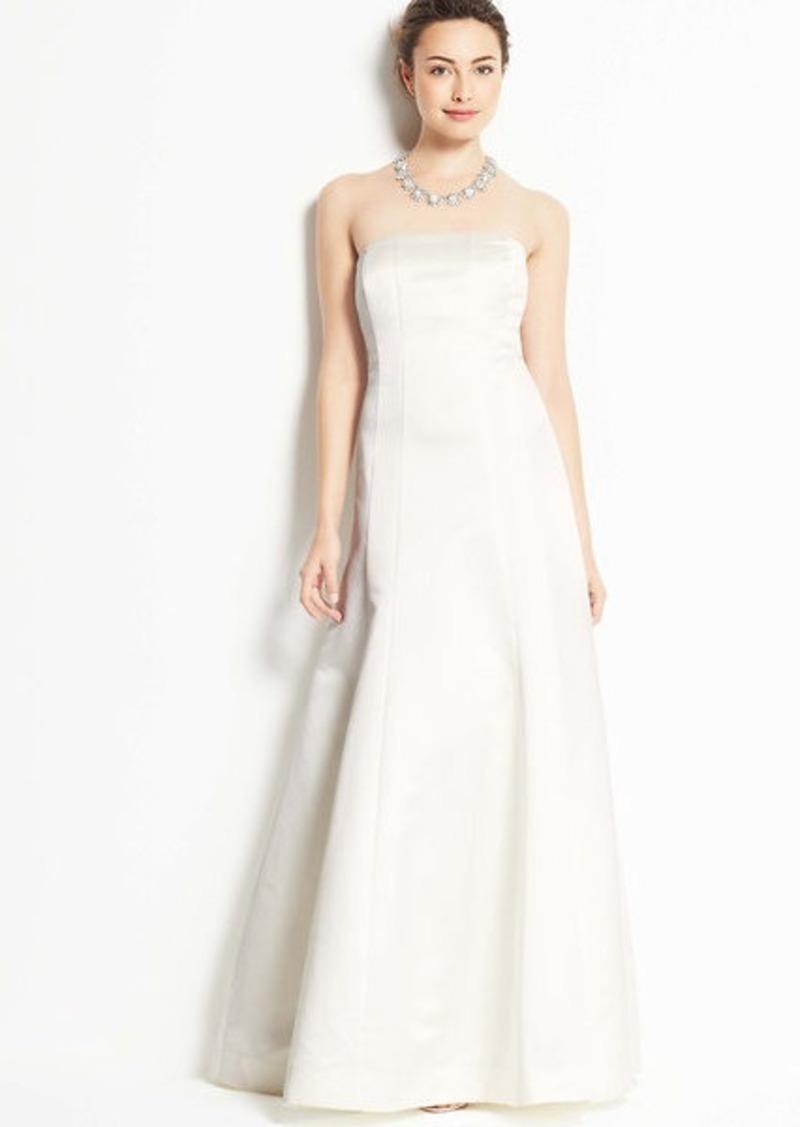 Ann taylor duchess satin strapless wedding dress dresses for Robes de noce ann taylor