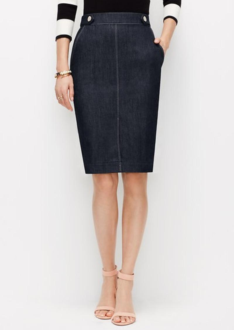 edgestitched denim pencil skirt skirts shop