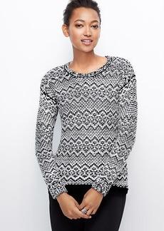 Elliptical Stitch Sweater