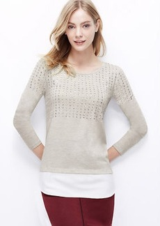 Embellished Woven Shirttail Hem Top