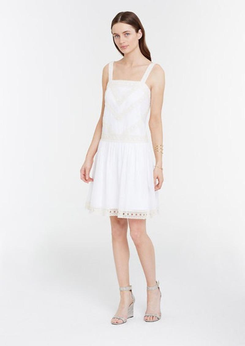 Ann taylor embroidered drop waist dress dresses shop for Robes de noce ann taylor