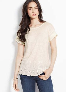 Embroidered Front Tee