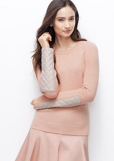 Faux Leather Paneled Sweater
