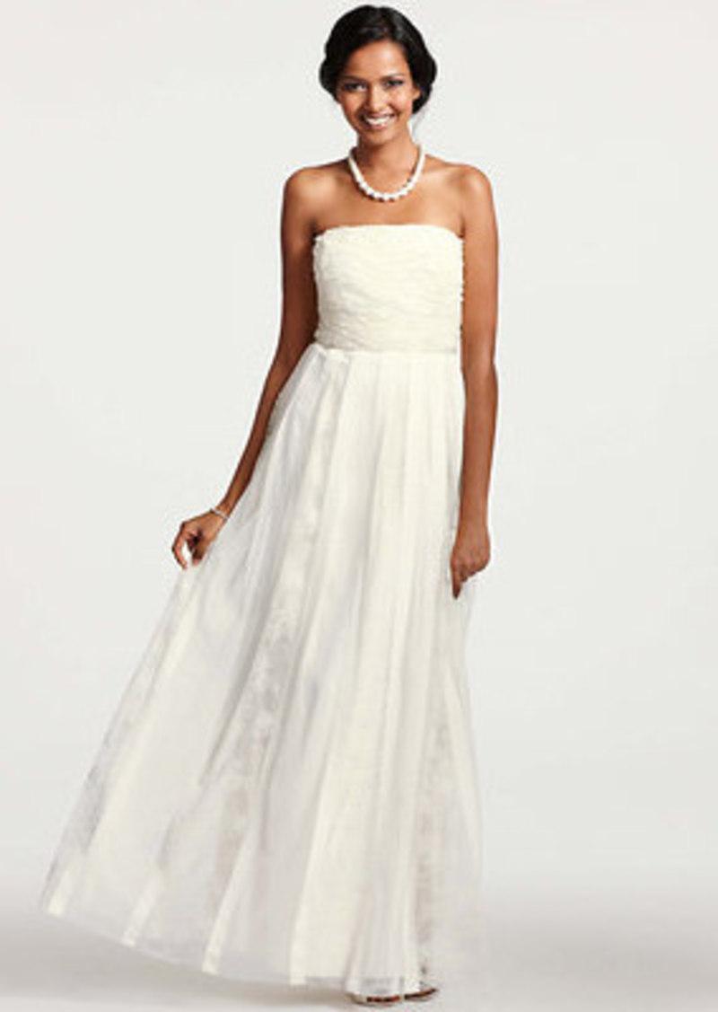 Ann Taylor Grosgrain Ribbon Strapless Wedding Dress