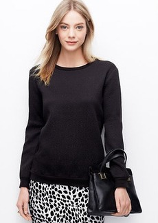 Jacquard Back Zip Sweatshirt