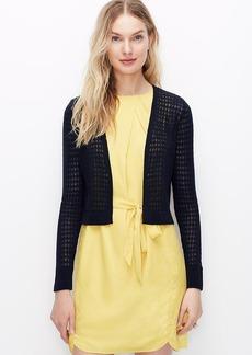 Linen Cotton Open Cardigan