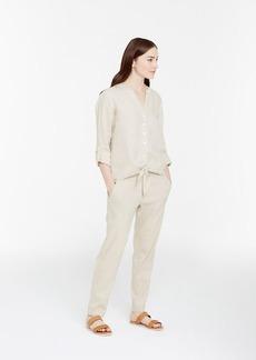 Linen Tie Front Shirt