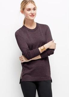 Merino Wool Side Zip Sweater