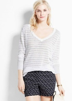 Open Stitch Linen Sweater